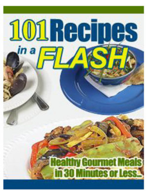 Product picture 101 Recipes in a Flash Ebook Resell