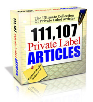 Product picture 111,107 Private Label Articles